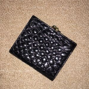 Patent leather snake-skin wallet Bally